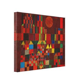 Paul Klee Castle And Sun Canvas Print