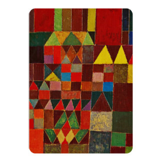 Paul Klee Castle And Sun Card