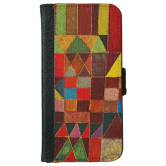 Paul Klee Castle And Sun Colorful Abstract Art Wallet Phone Case For iPhone 6/6s