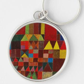 Paul Klee Castle And Sun Keychain