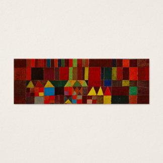 Paul Klee Castle And Sun Mini Business Card