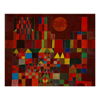 Paul Klee Castle And Sun Poster