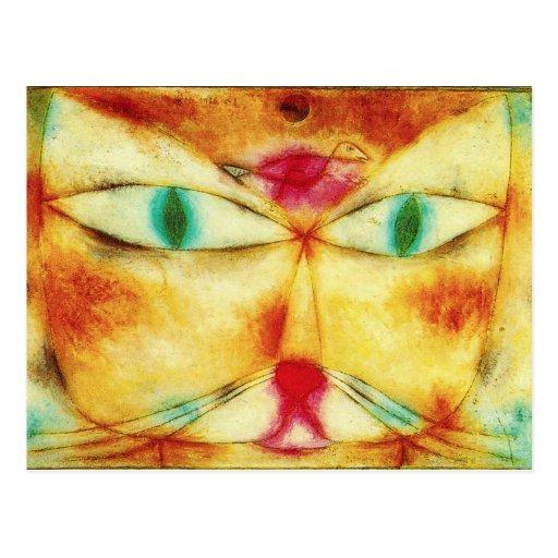 Paul Klee Cat and Bird Postcard