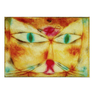 Paul Klee Cat and Bird Poster