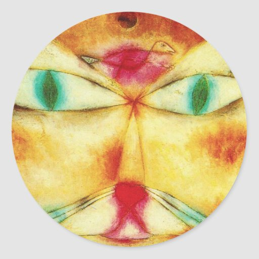 Paul Klee Cat and Bird Stickers