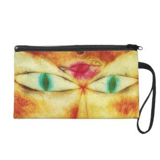 Paul Klee Cat and Bird Wristlet