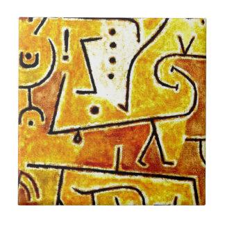 Paul Klee - chaleco rojo Azulejo Cuadrado Pequeño