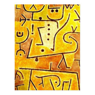 Paul Klee - chaleco rojo Postales
