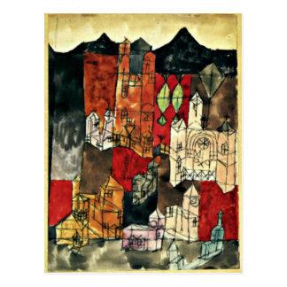 Paul Klee - ciudad de iglesias Tarjeta Postal