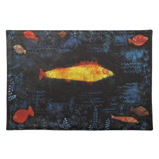 Paul Klee el arte de la acuarela del vintage del Manteles Individuales