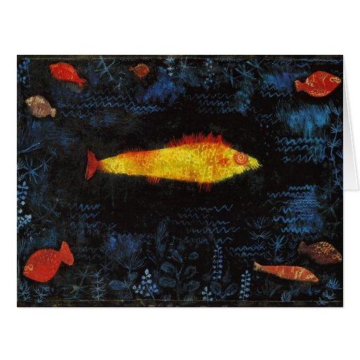 Paul Klee el arte de la acuarela del vintage del Tarjeta De Felicitación Grande