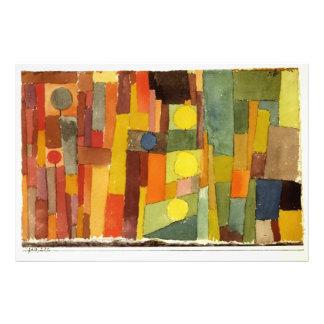 Paul Klee en el estilo de Kairouan Cojinete