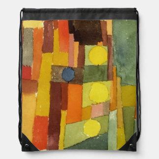 Paul Klee en el estilo de Kairouan Mochila