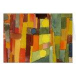 Paul Klee en el estilo de Kairouan Tarjeta De Felicitación