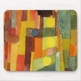 Paul Klee en el estilo del arte de la acuarela de Alfombrillas De Ratón