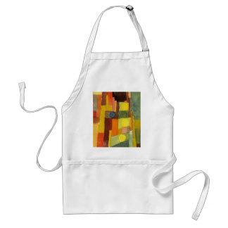 Paul Klee en el estilo del arte de la acuarela de Delantal