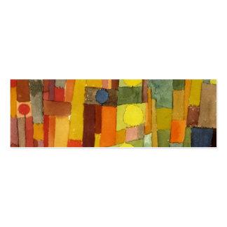 Paul Klee en el estilo del arte de la acuarela de Tarjetas De Visita Mini