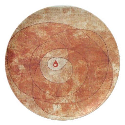 Paul Klee- en la base Plato De Comida