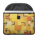 Paul Klee - firma adentro amarillo Fundas Macbook Pro