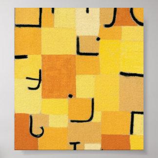 Paul Klee - firma adentro amarillo Impresiones