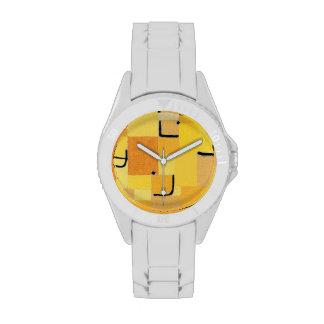 Paul Klee - firma adentro amarillo Reloj