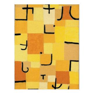 Paul Klee - firma adentro amarillo Postales