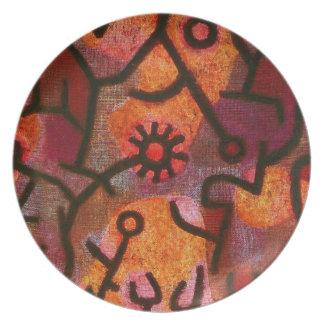 Paul Klee Flora di Roccia Plate