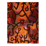 Paul Klee Flora di Roccia Postcard