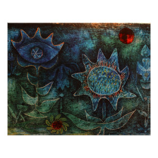 Paul Klee Flowers In The Night Poster