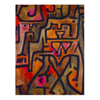 Paul Klee Forest Witch Postcard