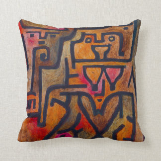 Paul Klee Forest Witch Throw Pillow