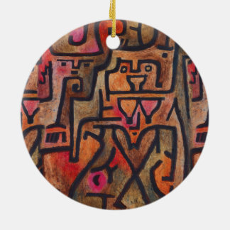 Paul Klee Forest Witches Abstract Ceramic Ornament