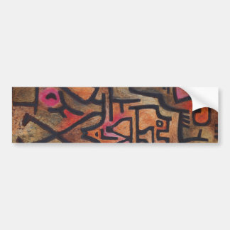 Paul Klee - Forest Witches Bumper Sticker