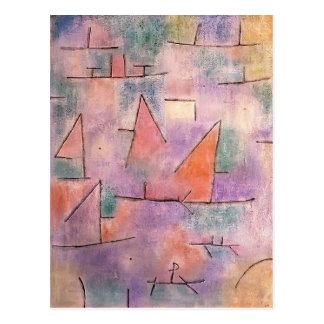 Paul Klee- Harbour with sailing ships Postcard