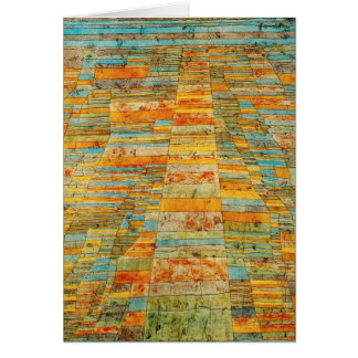 Paul Klee Highways and Byways Note Card