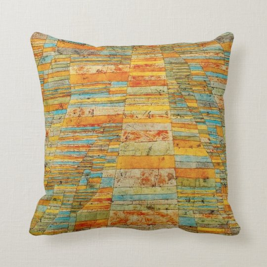 Paul Klee Highways and Byways Pillow