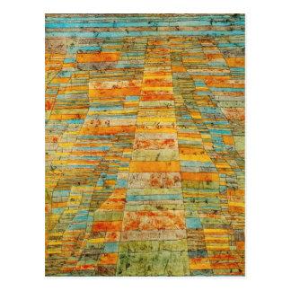 Paul Klee Highways and Byways Postcard
