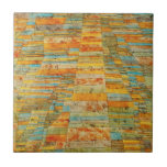 """Paul Klee Highways and Byways Tile<br><div class=""""desc"""">Paul Klee Highways and Byways tile. Oil painting on canvas from 1929. Paul Klee worked in a variety of different styles, Highways and Byways is an abstract created during his Bauhaus period. With organic orange, yellow, green and turquoise, this painting makes a great gift for fans of Paul Klee, Bauhaus,...</div>"""