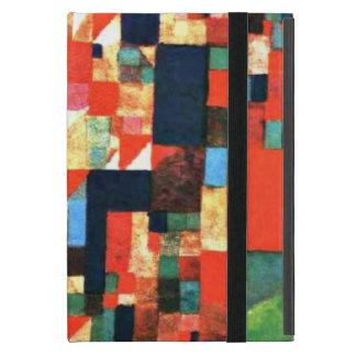 Paul Klee: Imagen de la ciudad con acentos rojos y iPad Mini Protector