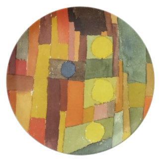 Paul Klee In The Style Of Kairouan Dinner Plates