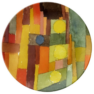 Paul Klee In The Style Of Kairouan Porcelain Plates