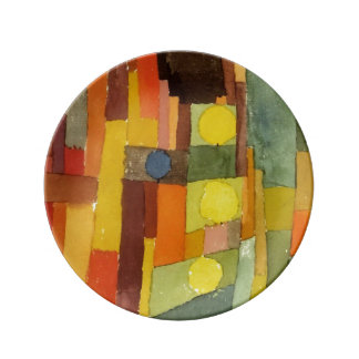 Paul Klee In The Style Of Kairouan Porcelain Plate
