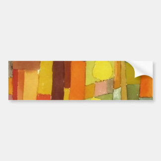 Paul Klee In The Style Of Kairouan Watercolor Art Bumper Sticker