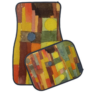 Paul Klee In The Style Of Kairouan Watercolor Art Car Mat