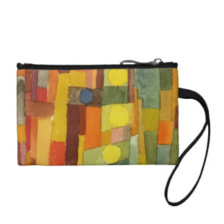 Paul Klee In The Style Of Kairouan Watercolor Art Coin Wallet
