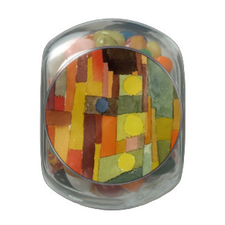 Paul Klee In The Style Of Kairouan Watercolor Art Glass Candy Jars