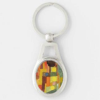 Paul Klee In The Style Of Kairouan Watercolor Art Keychain