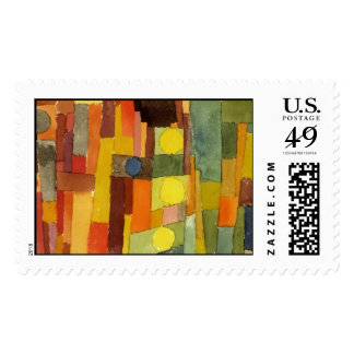 Paul Klee In The Style Of Kairouan Watercolor Art Postage