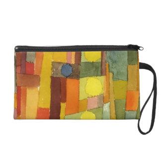 Paul Klee In The Style Of Kairouan Watercolor Art Wristlet