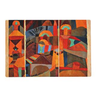 Paul Klee - jardines del templo Tapete Individual